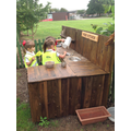 Our new mud kitchen.