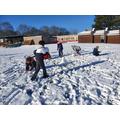 Building a snowman!
