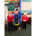 We had a visit from Hesta the guide dog.