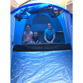 Jessica's camping holiday - Costa del back garden