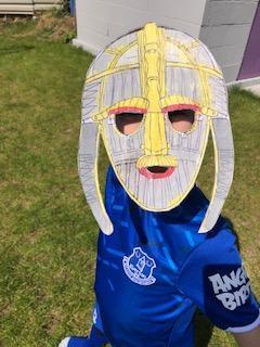A fantastic replica of the Sutton Hoo helmet! WOW!