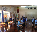 Dancing in the hall!