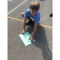 Finding North using a compass.