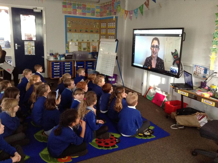 Safety Seymour the CO super hero virtually visited our class