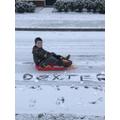 Dexter's PE lesson... in the snow!