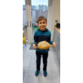 Xander's yummy loaf of bread he made all by himself!