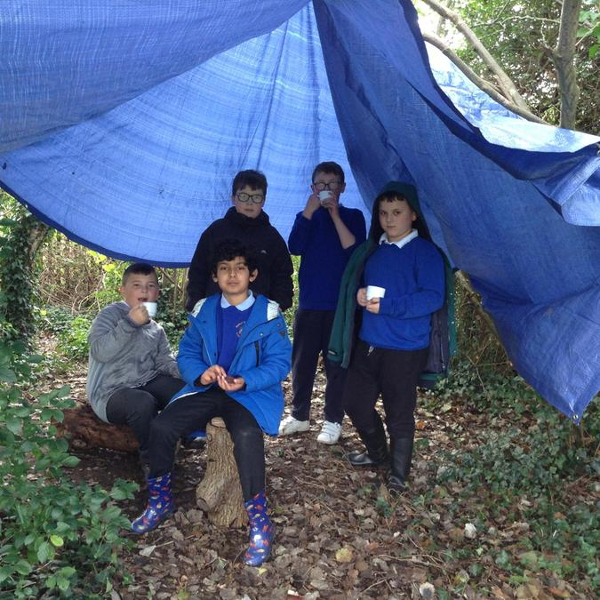 Hot chocolate and biscuits in the dens.