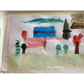 Holly painted a snowy scene!