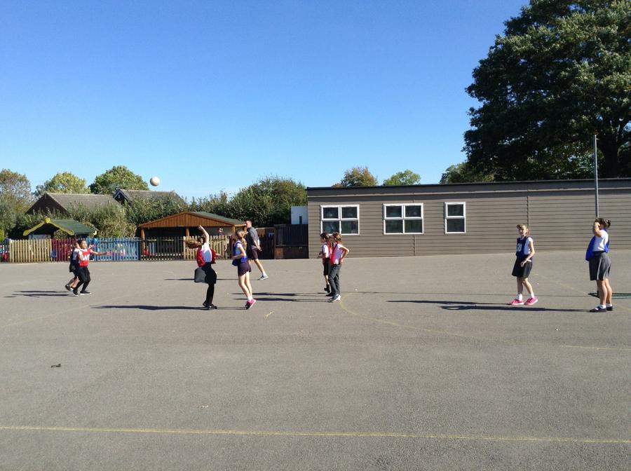 Netball club is open to all children in KS2.