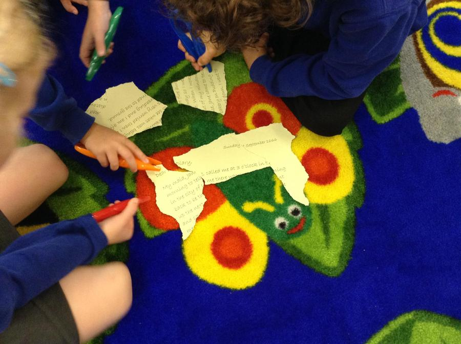 We learned about primary and secondary sources.
