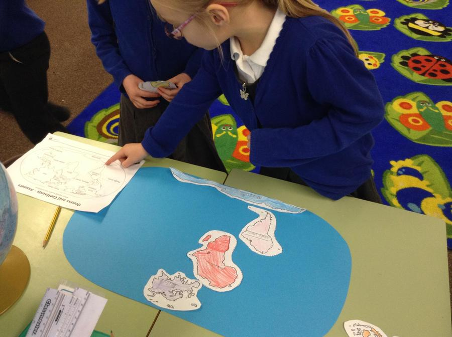 Using a map to create our own globes