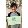 Ibrahim and his beautiful sketch!