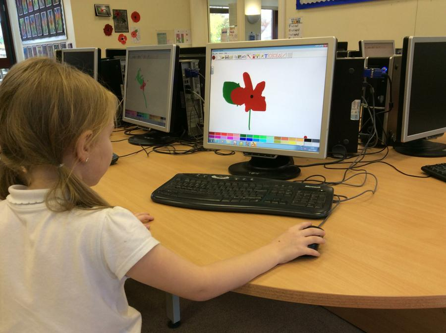 We had fun designing poppies using Splosh.