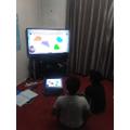 Aniketh and Akhilesh working hard on their Maths - super!