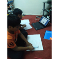 Aniketh and Akhilesh working hard on their home-learning. Well done boys!