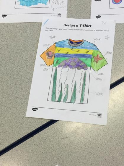 Paige's design for her t shirt