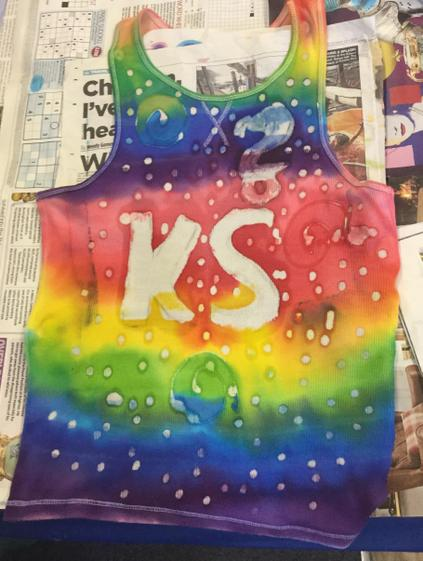 Kitty's finished t shirt