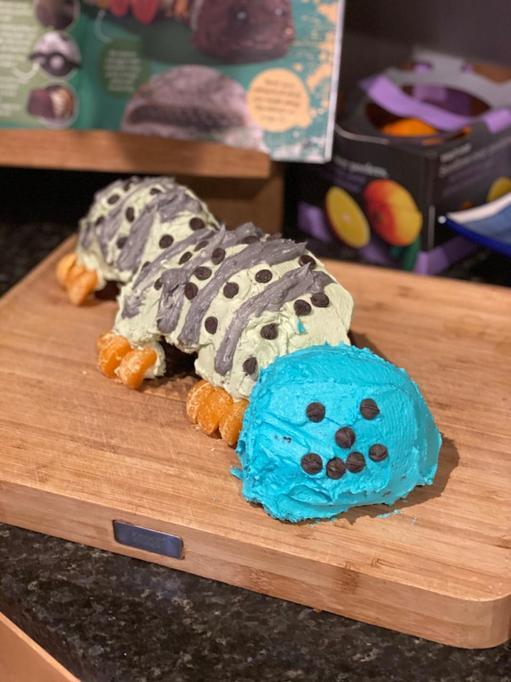 Charlie's caterpillar cake