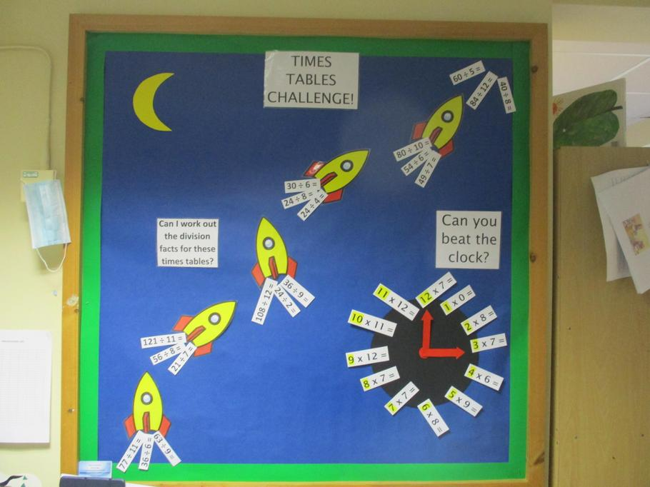 Our times tables rockets!