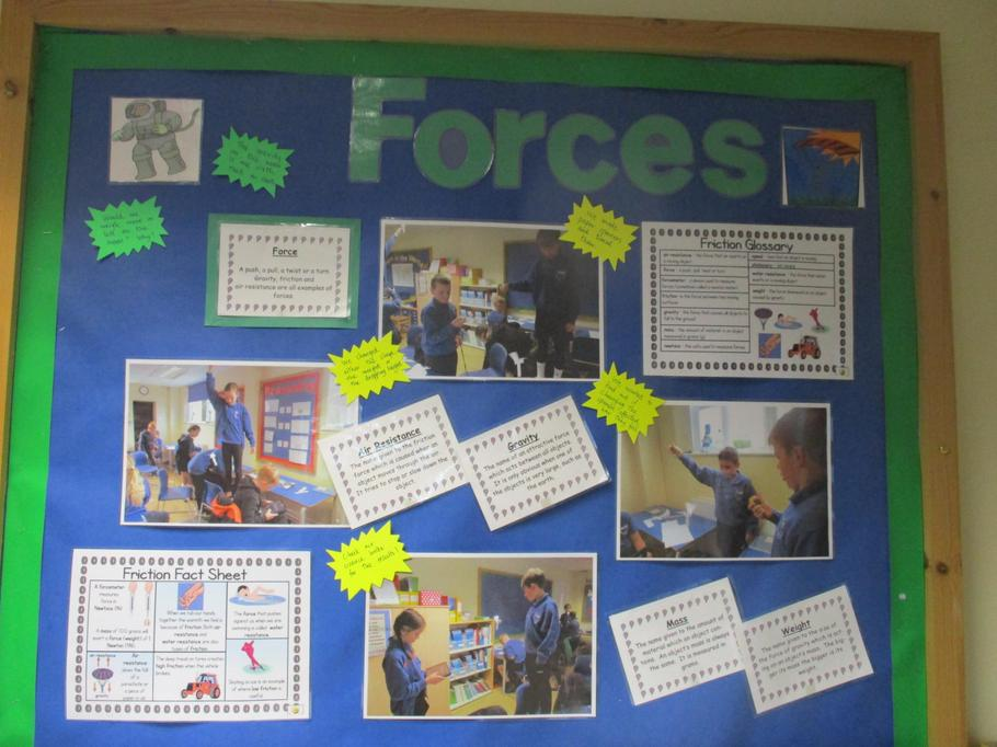 Our science topic this term is Forces.