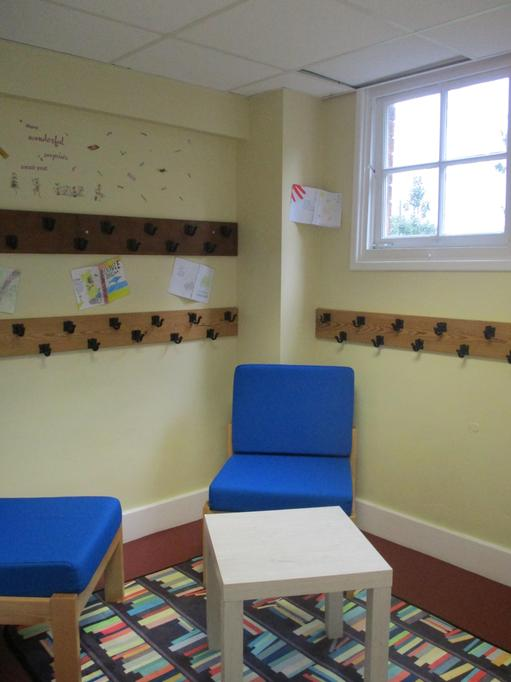 Our lovely new reading room (formerly known as the old cloakroom!)