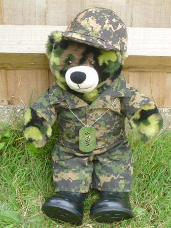 Corporal Camo in one of his many outfits.