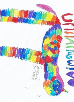 I love your rainbow unicorn Sophie, very creative.