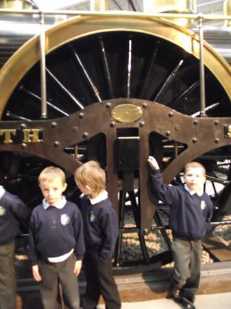 WOW!The wheels were bigger than us!