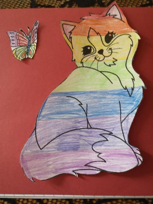 What a cute rainbow cat, Bonnie.