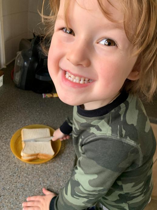 The 'cutting a sandwich in half' challenge