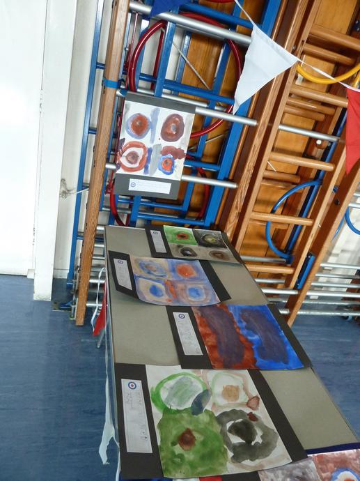 Griffin artwork on display