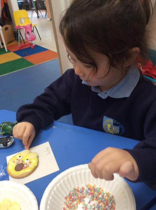 Making delicious Pudsey Biscuits