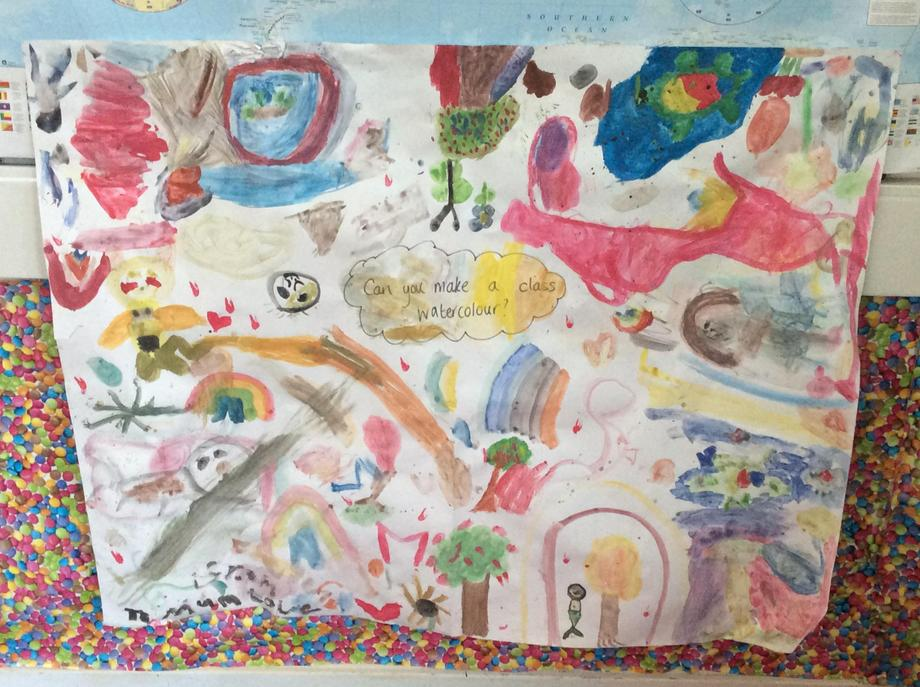 Our class watercolour from the exhibition.