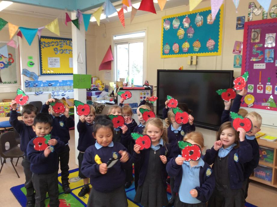 Poppies for Remembrance Day Assembly