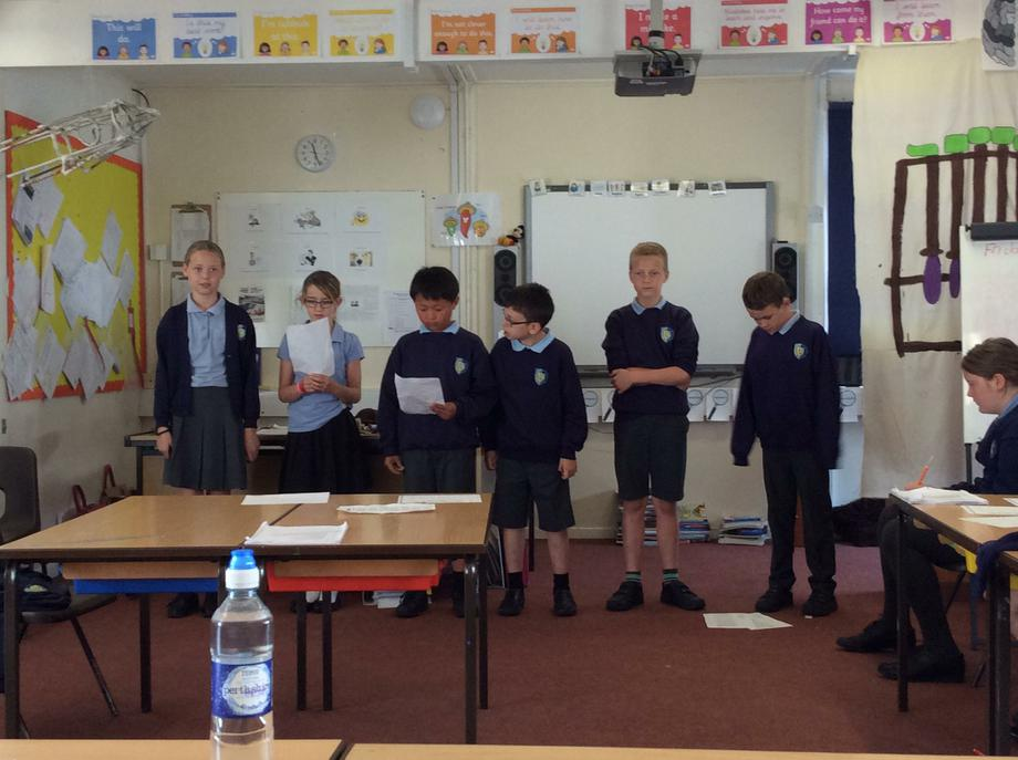 We learnt the poem in our house groups.