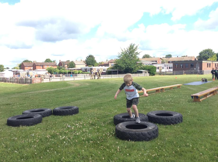 Tackling the tyres.