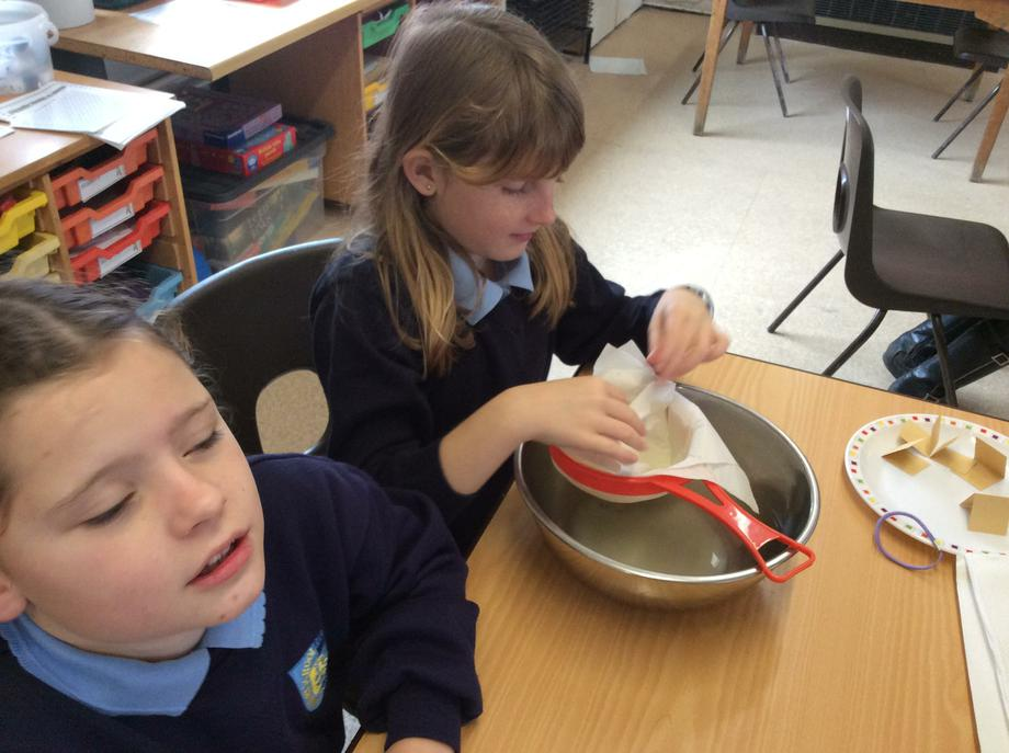 We collected what was left in the sieve
