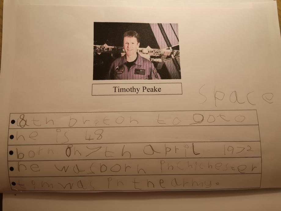 A famous astronaut profile By Mason