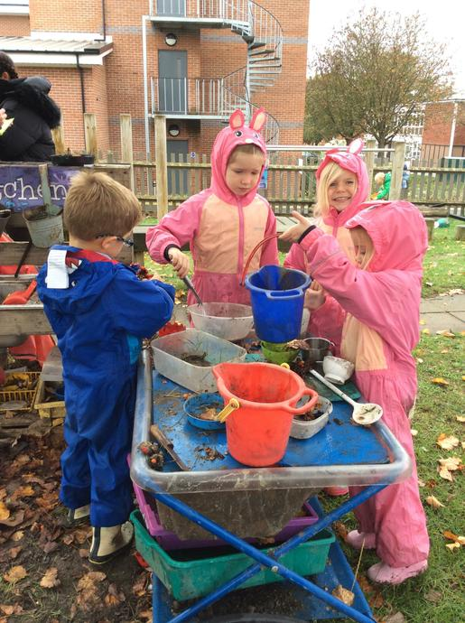 Messy in the Mud Kitchen