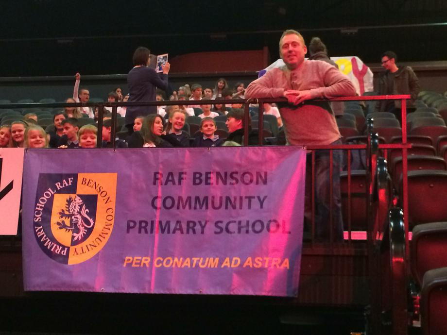 Our banner is securely in place!