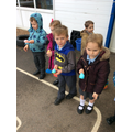 We enjoyed an a Egg and Spoon race outside.