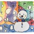 Isla's fabulous smiling snowman.
