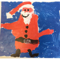 Ava's design, a wonderful jolly Santa.