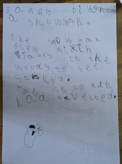 We enjoyed writing some super sentences about snow!