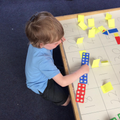 Numicon to support addition.