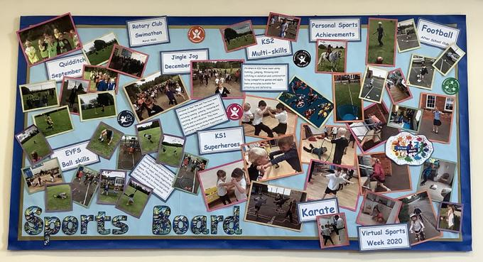 This shows our skill progression, our Virtual Sports Week and Personal Sports Acheivement