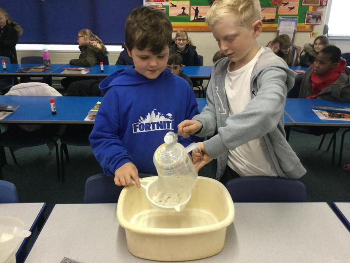 Pasta and flour- Sieving