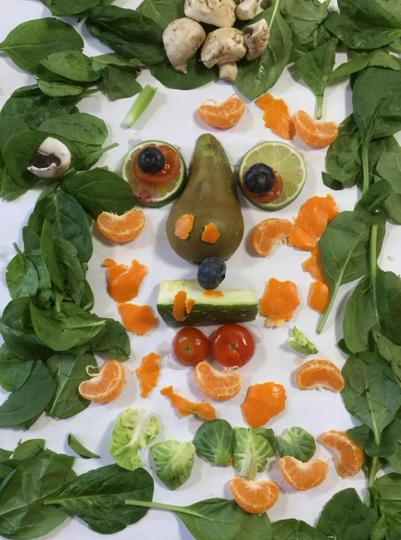Holly had imaginative ideas for the peel!