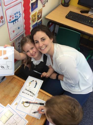 Sharing how I write with mummy