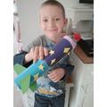 Max really enjoyed making his model rocket!